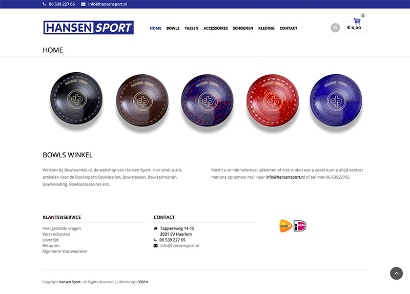 Bowlswinkel - webshop