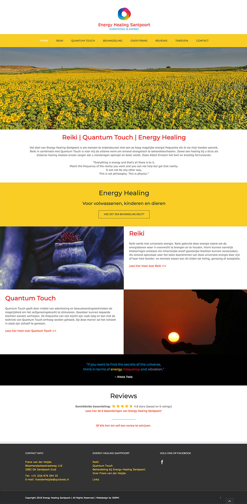 Energy Healing Santpoort - website