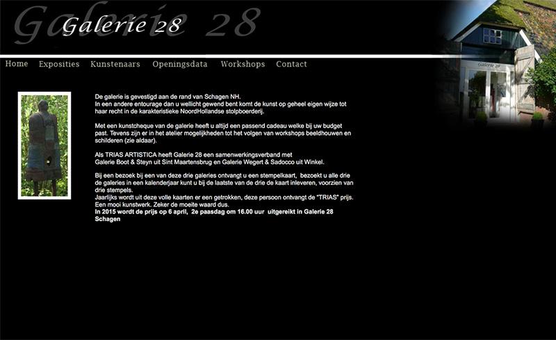 Galerie 28 - website