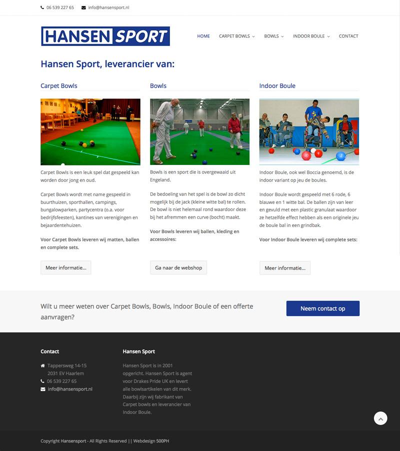 Hansen Sport - website