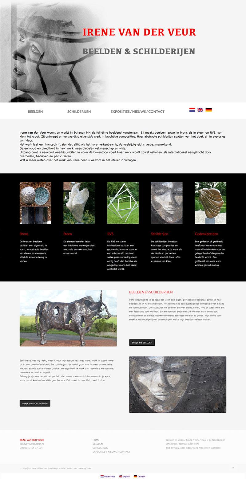 Irene van der Veur - website
