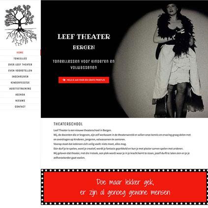 Leef Theater Bergen - website