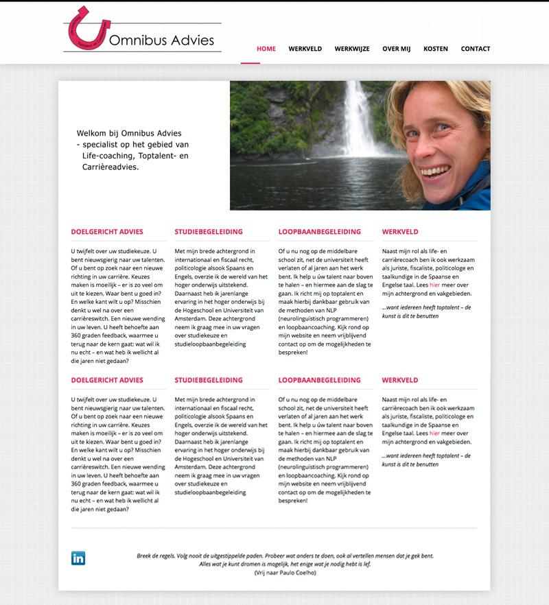 Omnibus Advies - website