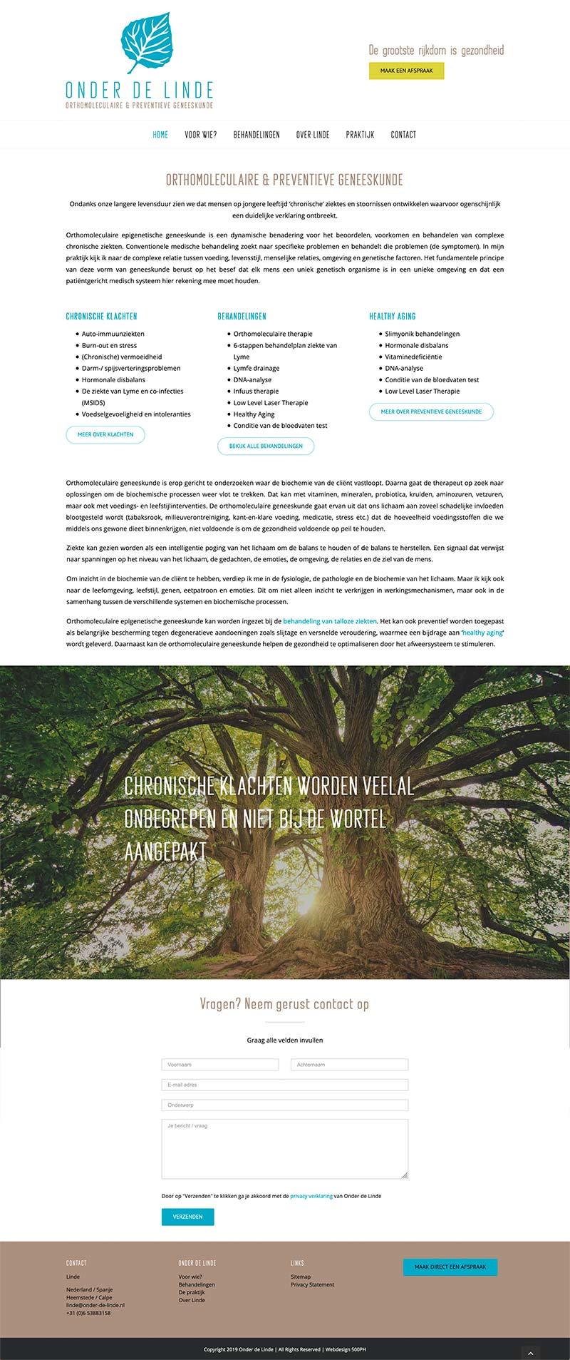 Onder de Linde - website