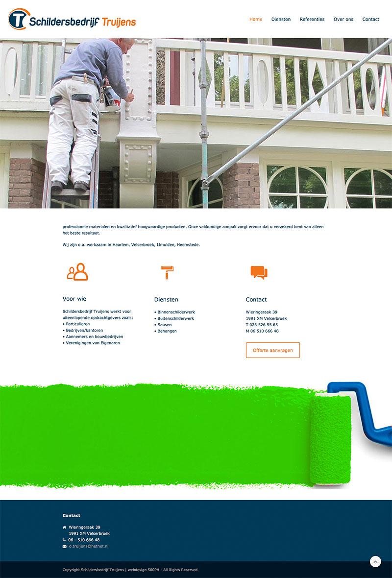 Schildersbedrijf Truijens - website