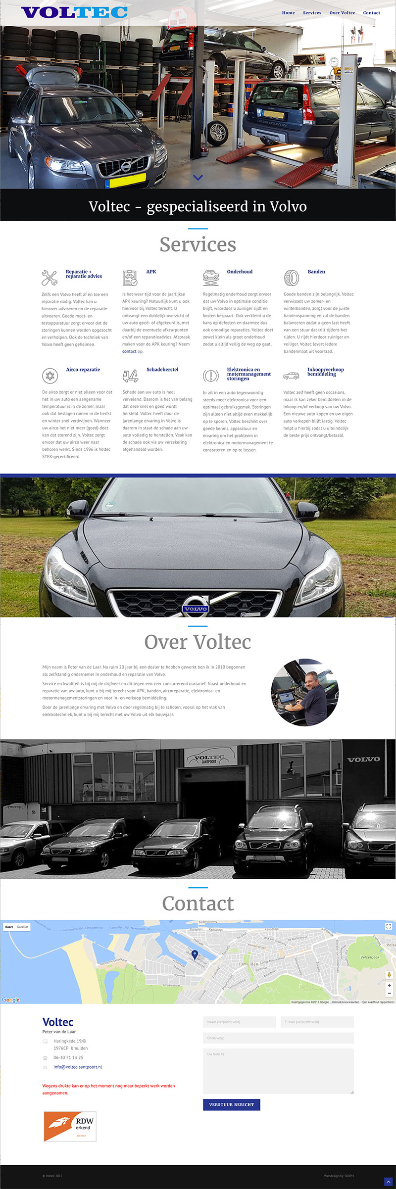 Voltec Santpoort - website