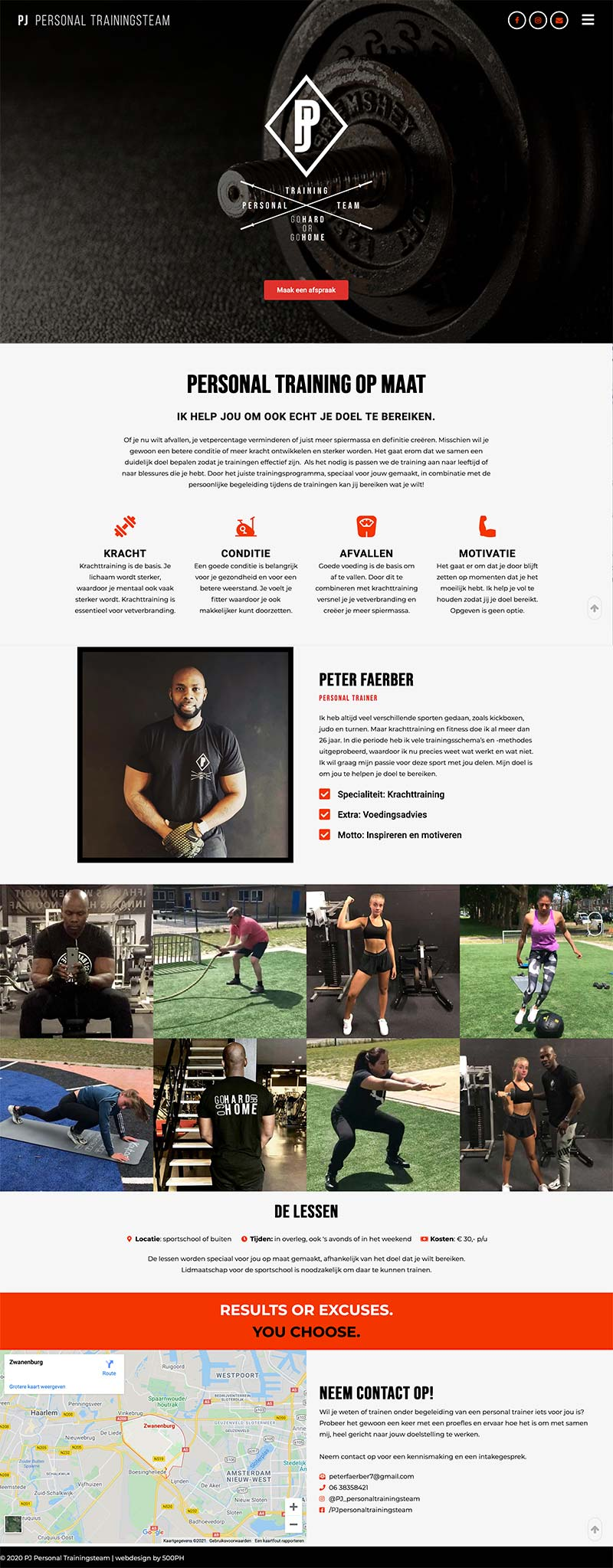PJ Personal Trainer   website